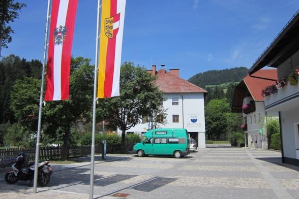 Dorfplatz Dellach im Drautal